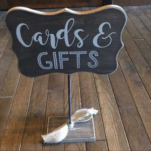 Cards and Gifts Wood Wedding Decor